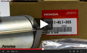 View the video on the Honda Bigred MUV700 starter part # 06311-HL1-305